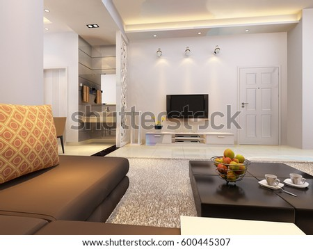 3d rendering home interior  #600445307