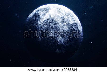 Uranus - planets of the Solar system in high quality. Science wallpaper. Elements furnished by NASA