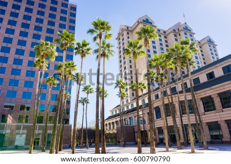 Urban landscape in downtown San Jose, Silicon Valley, California