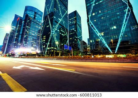 Modern urban traffic at night #600811013