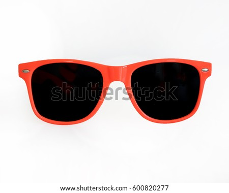 Orange / Red Sunglasses white backgound #600820277