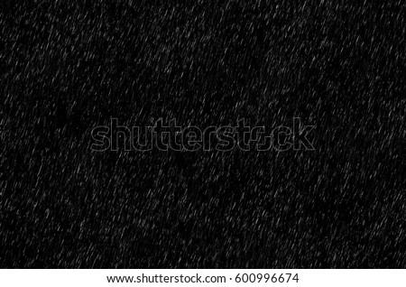 Rain on black. Rain texture. Abstract background