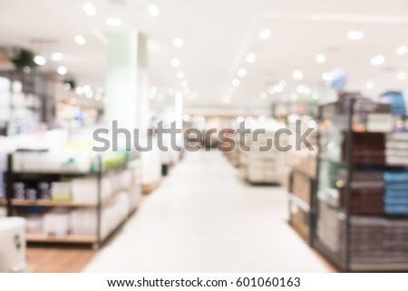 Abstract blur shopping mall and department store interior for background #601060163
