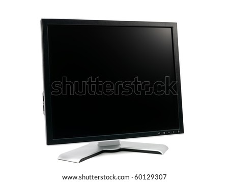A computer monitor isolated against a white background #60129307