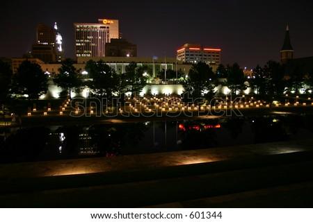 Oklahoma City National Memorial Skyline