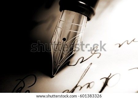 Pen. Royalty-Free Stock Photo #601383326