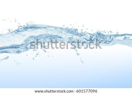 Water splash,water splash isolated on white background,water #601577096