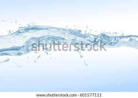 Water splash,water splash isolated on white background,water #601577111