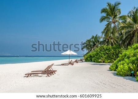 Beautiful beach at Maldives, South Male Atoll #601609925