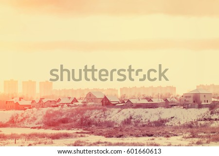 City landscape in winter #601660613