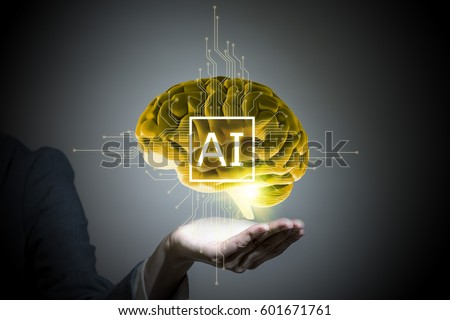 AI(Artificial Intelligence) concept, 3D rendering, abstract image visual #601671761