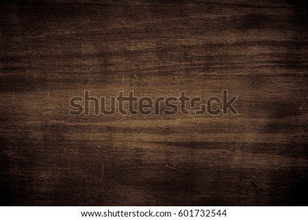 Dark brown wooden texture. Empty horizontal. Wooden background. #601732544