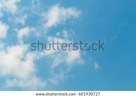 The sky and clouds are a colorful, light-colored form every day. #601930727
