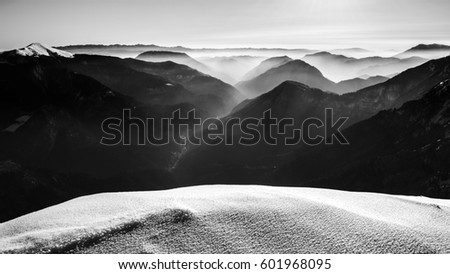 Epic winter scenery in the mountains #601968095