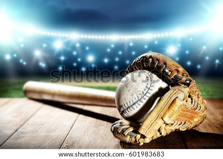 baseball and night time  #601983683