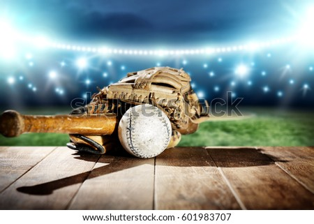 baseball and night time  #601983707