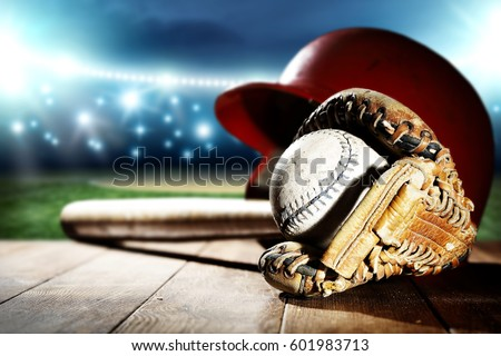 baseball and night time  #601983713