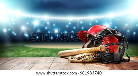 baseball and night time  #601983740