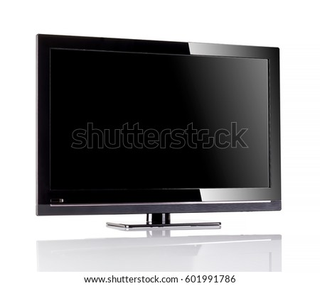 Tv lcd on white background  #601991786