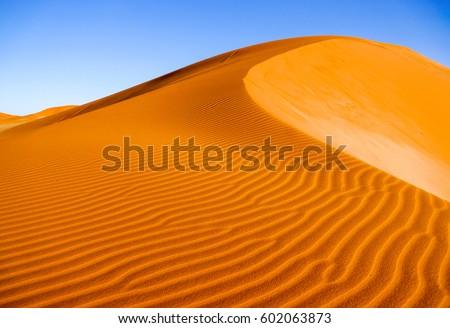 Desert sand dunes ripples #602063873