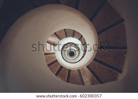 Circle spiral staircase - geometrical concept #602300357
