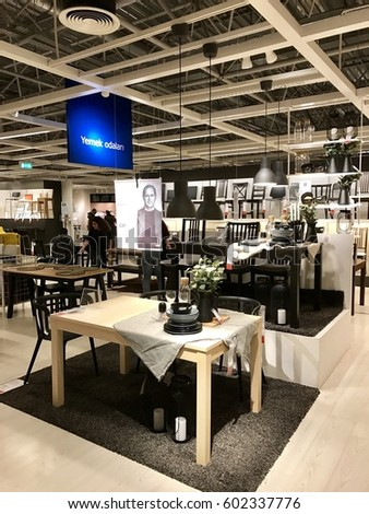 ISTANBUL,TURKEY-MARCH 11,2017:Ikea Store in Bayarampasa District.Interior view of furniture room inside IKEA store. IKEA is the world's largest furniture retailer.  #602337776