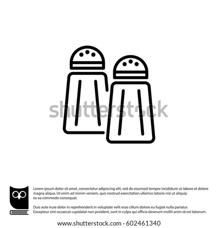 Web line icon. Salt and pepper Royalty-Free Stock Photo #602461340