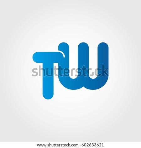 logo letters tw blue #602633621