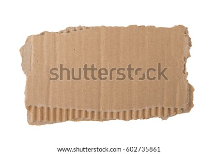 Kraft cardboard goffered. Cardboard ripped edge. Royalty-Free Stock Photo #602735861