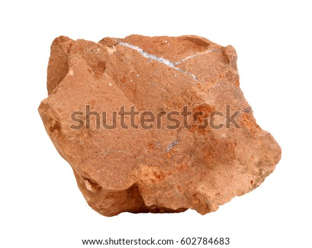 Natural specimen of siltstone rock - clastic sedimentary rock composed of silt-sized particles of clay, clay minerals, grains of feldspar and quartz, Permian period, Vyatka river, Kirov region #602784683
