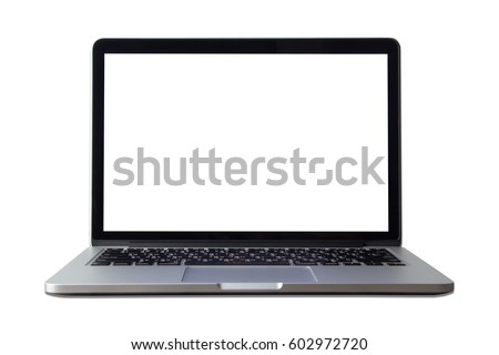 laptop isolated a white background. #602972720