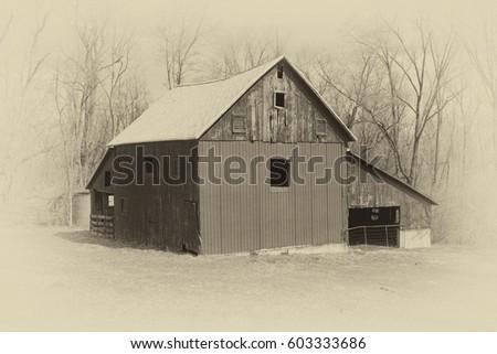 Old Style photo of a Farm Barn