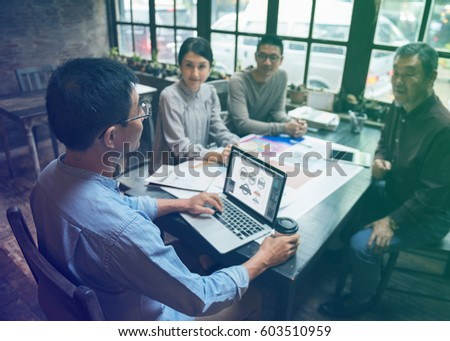 Business people meeting in the office #603510959