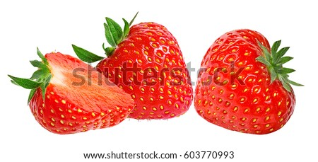 Strawberry on white background #603770993
