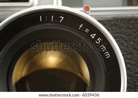 Old Photo Camera Lens. Close-up. #6039436