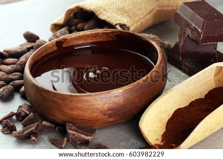Melting chocolate / melted chocolate/ chocolate swirl/ stack/ chips and powder #603982229