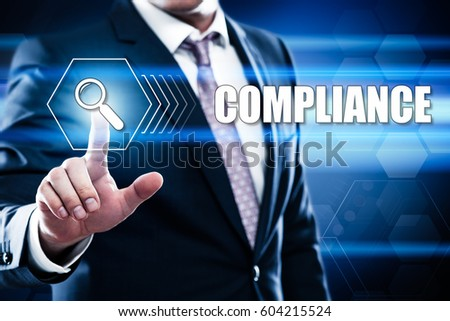 Compliance Rules Law Regulation Policy Business Technology concept #604215524