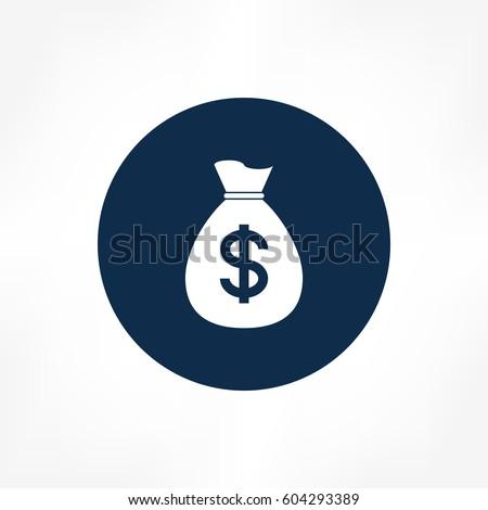money bag icon #604293389