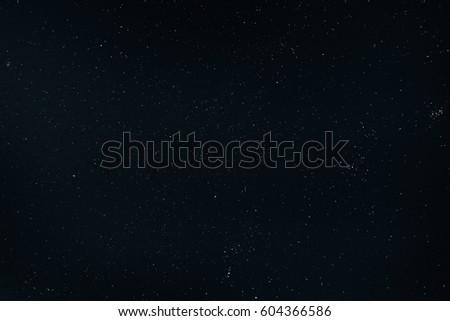 Dark Night Starry Sky Background. Night View Of Natural Glowing Stars #604366586