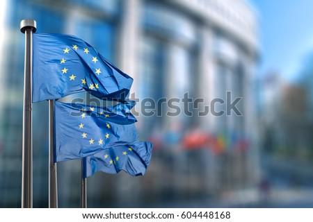 European union flag Royalty-Free Stock Photo #604448168