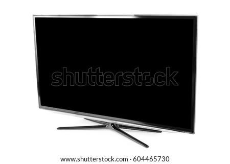 4k monitor isolated on white #604465730