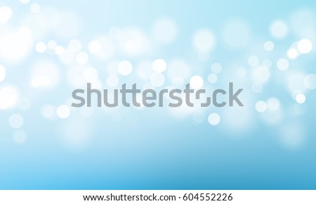Vector abstract blue sky background with blur bokeh light effect.  #604552226