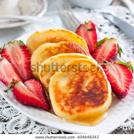 Homemade fritters with honey, square #604648343