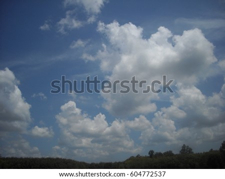 Sky and clouds #604772537
