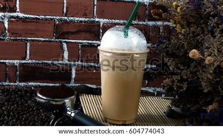 Ice cappuccino coffee #604774043