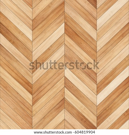 Seamless wood parquet texture (chevron sand color)