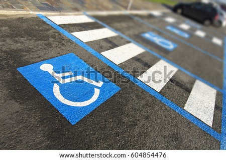disabled handicap parking  space reserved for handicapped