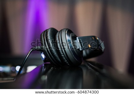 Black headphones #604874300