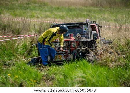 ARTEM, RUSSIA - MAY 21, 2016: Rainforest challenge offroad global series - RFC East Russia race. #605095073