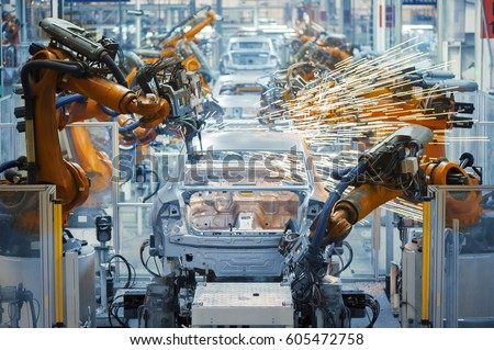 Automobile production Royalty-Free Stock Photo #605472758